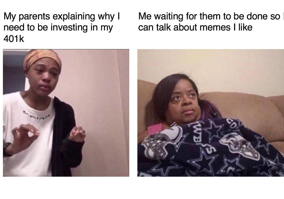 Reaction for investing vs your 401(k)