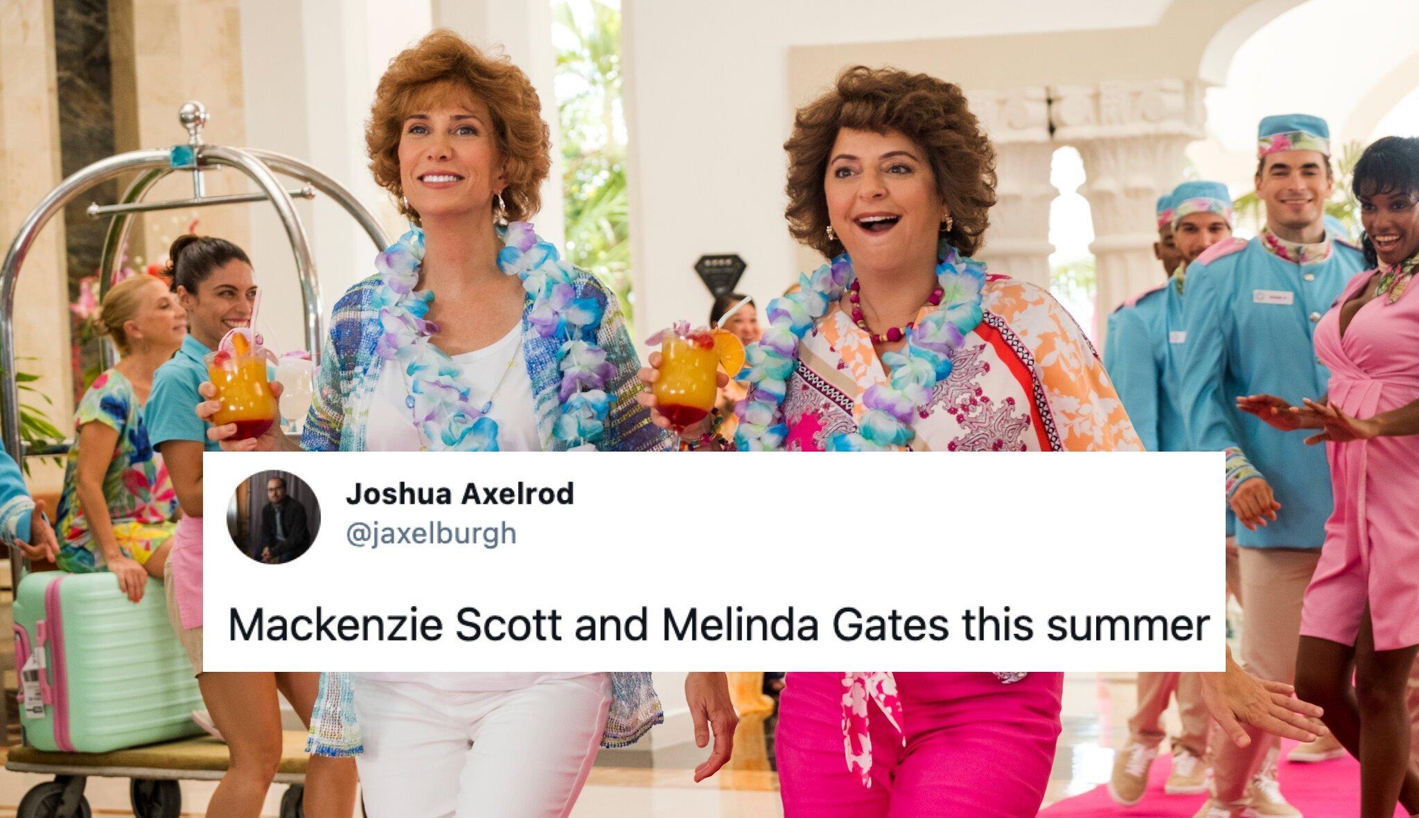 Mackenzie Scott and Melinda Gates this summer photo