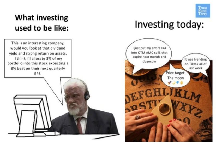 What investing used to be like:
