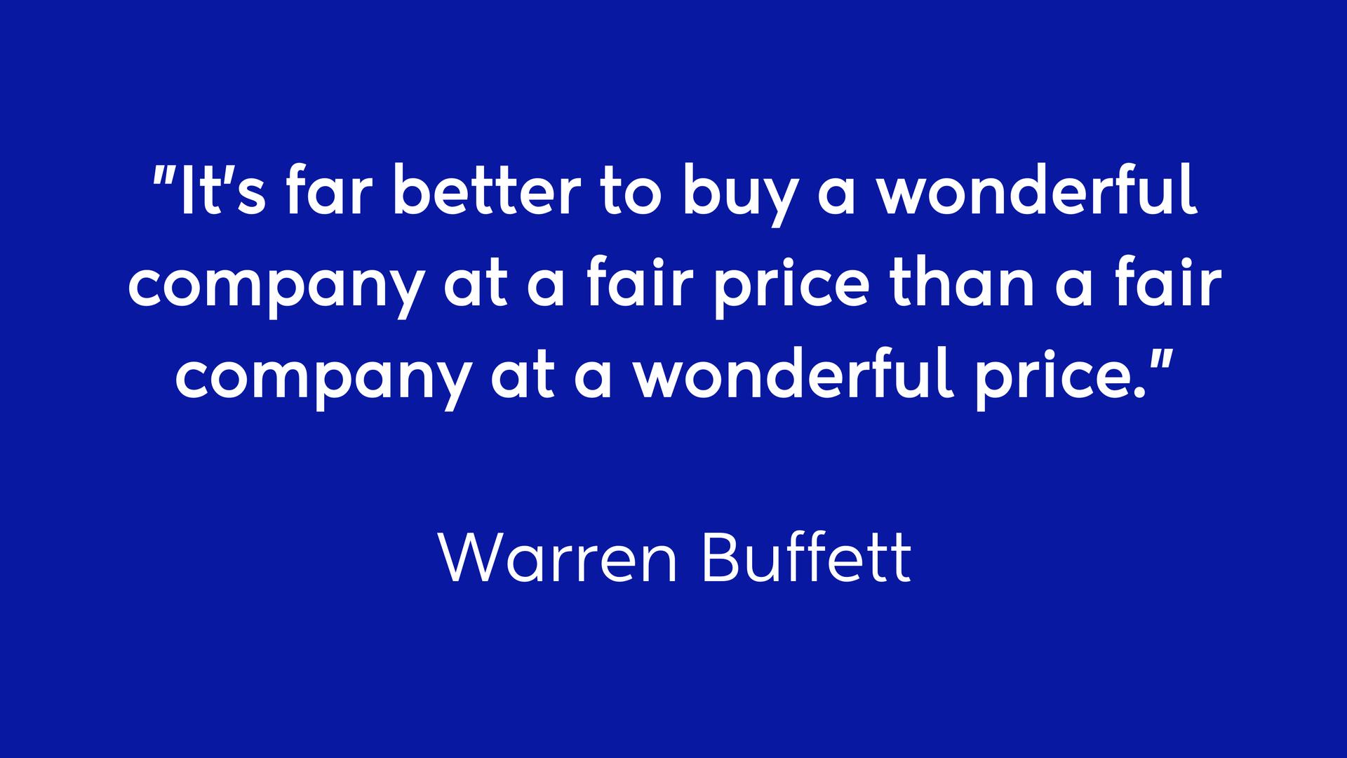 Quote by Warren Buffett