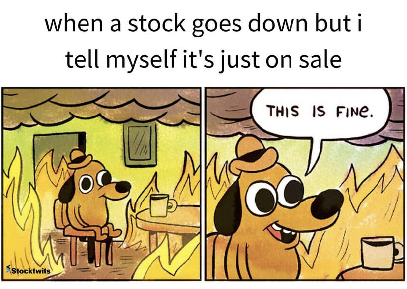 Cartoon reaction when stock goes down