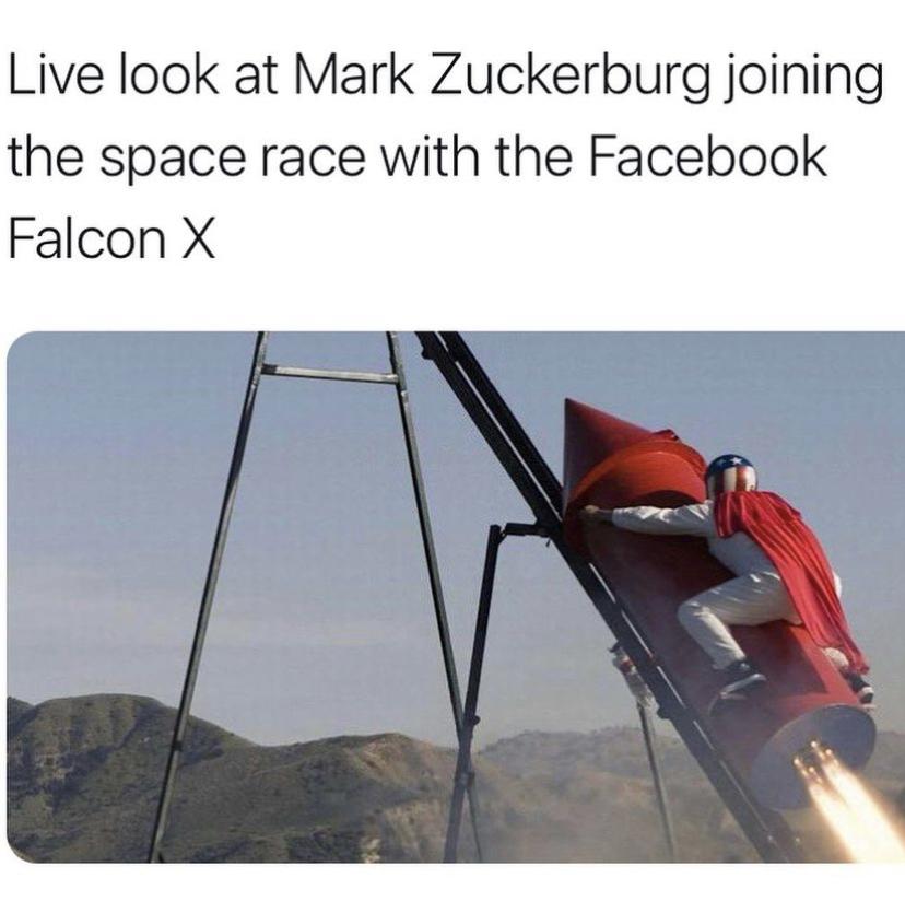 Mark Zuckerberg joining the space race