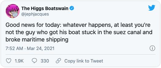 Tweet of The Higgs Boatswain
