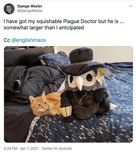 Tweet of Django Wexler