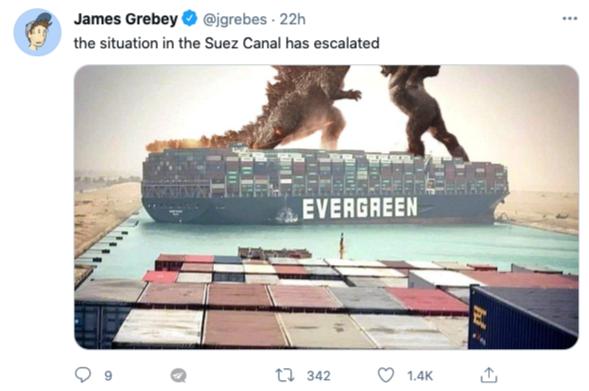 Tweet of James Grebey